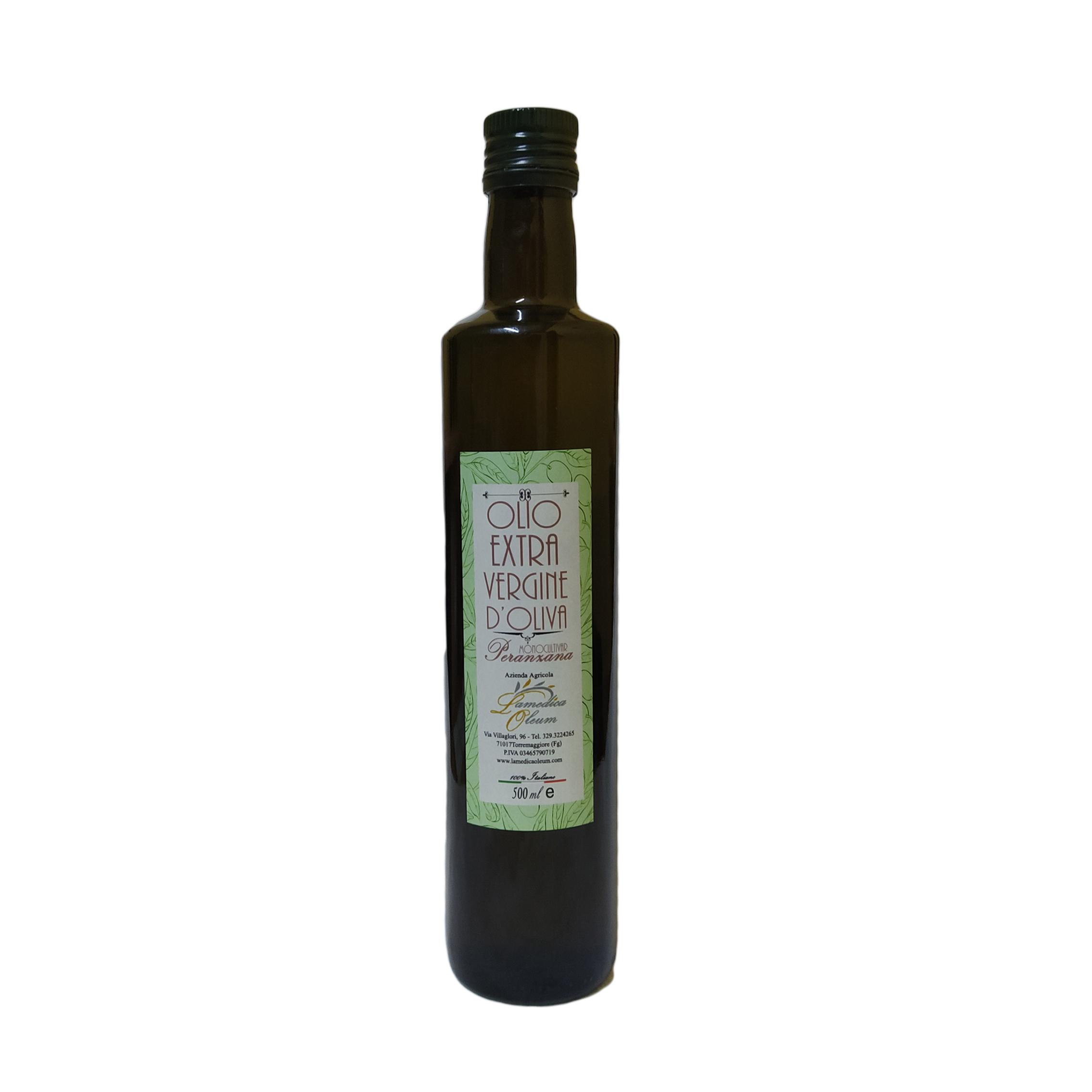 Olio Extravergine d'Oliva Monocultivar Peranzana Dorica 500ml